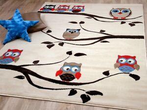 Kinderteppich Trendline Eulen Creme in 4 Größen