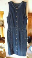 ++ Sleeveless Jean Dress, GLORIA VANDERBILT, Size M Medium, 100% Cotton