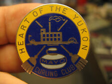 Yukon Mayo Curling Club silver and enamel badge by Birks HEART OF THE YUKON
