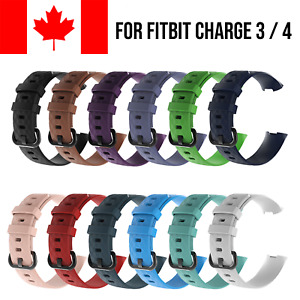 For Fitbit Charge 3 4 Band Replacement Wrist Strap Silicone Sport Watch Bands