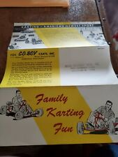 Vintage Fox Go-Boy Go Kart Counter Brochure