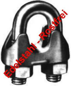2 Stück EDELSTAHL Drahtseilklemmen DIN 741  5 mm  V4A, NIRO, AISI 316 poliert