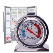 Refrigerator Freezer Thermometer Fridge DIAL Type Stainless Steel Hang Stand #y