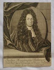 Gravure XVIIIème - Portrait de Justus Henning Böhmer