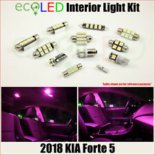 Fits 2018 Kia Forte 5 PINK Interior LED Light Accessories Replacement Kit 9 Bulb