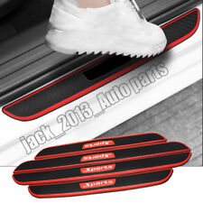Car universal rubber Scuff Plate Door Sill Guards Thresholds Cover Trims 4PCS
