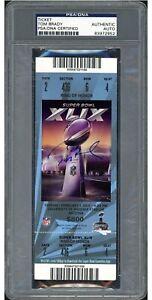 Tom Brady Autographed Signed Ticket SB XLIX PSA/DNA  MVP Patriots/Butler Catch