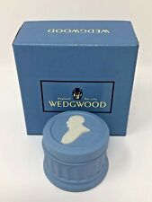 Blue Wedgwood Trinket Box Small Round 75th Anniversary Huntington Library