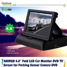 4.3'' TFT LCD Plegable Seguridad Marcha Atrás Coche Monitor Pantalla Para Cámara