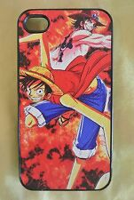 USA Seller Apple iPhone 4 & 4S Anime Phone case  Cool One Piece Ace & Luffy