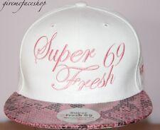 Super Fresh snakeskin Snapback, white hip flat peak fitted hats bling/baseball