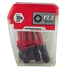 Milwaukee 4932430866 50mm Shockwave Pz2 Bout Paquet de 10