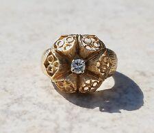 ESTATE 14K YELLOW GOLD .10CT DIAMOND DOME RING-SIZE 6.25-585 HO-6.16g FREE SHIP