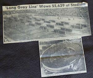 November 13, 1956  Newspaper Clipping PITT Wallops Army 'Long Gray Line Wows'