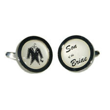 Ivory Brides Son Wedding Tuxedo Style Cufflinks & Gift Pouch