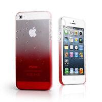 2x 3D Tropfen Schutzhülle Display Folie rot für Smartphone Handy iPhone 5 5S SE