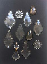 Lots de PAMPILLES Anciennes en Cristal pour Lustre