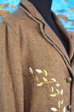 J.L. Studio Jessica London Blazer Women's Size 16W Wool Blend Embroidered Career