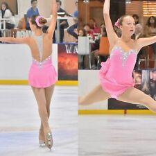 2018 New Ice skating dress Girl's figure skating dress pink