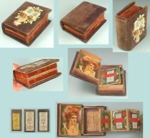 Colorful Antique Fold Out Needle Box * English * Circa 1870s