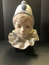 """Cybis Porcelain """"Funny Face"""" Clown Bust on Stand 1976 Children Of The World"""