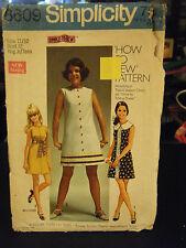 Simplicity 8609 Junior/Teen Size Dress in 2 Lengths Pattern - Size 11/12 Bust 32