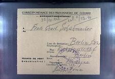 POW Camp 154 Sorgues France 1946 German Prisoner War Kriegsgefangenenpost 104