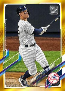 2021 Topps MLB Digital NFT Series 1 GOLD Aaron Judge Minted 173/881