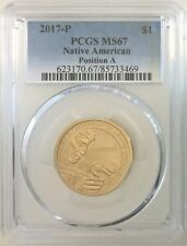 PCGS MS67 2017 P Native American Sacagawea Dollar $1 Gem Uncirculated Pos A