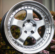 One Varrstoen Es6 18X9.5 5X114.3 Et12 Hyper Silver W/ Machined Lip Wheel