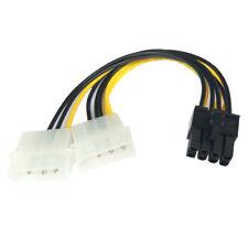 R38 8pin PCIe auf 2x 4 Pin Molex Grafikkarte Stromkabel PCIe Stromadapter Kabel