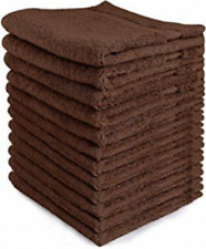 Egyptian Cotton 550GSM Supersoft Chocolate Brown Face Cloth/Face Towel x 2