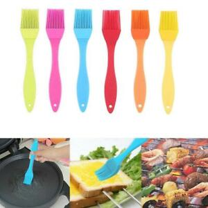 1/6PCS Baking BBQ Basting Brush Bakeware Pastry Bread Silicone Cooking Oil .