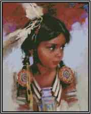 Native American Young Girl Counted Cross Stitch Complete Kit #21-125