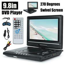 "9.8"" LCD Portable DVD CD Player 270°Swivel Screen EVD FM Radio Car Mini TV USB"