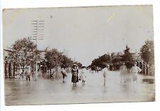 MAITLAND STREET NARRABRI 1910 FLOOD REAL PHOTO POSTCARD
