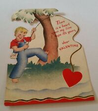 Vintage Valentine Card There is a Heart Upon My Line Used Card
