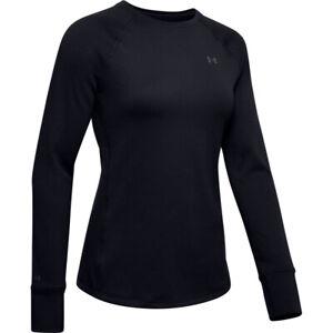 Under Armour 1353351 Womens UA ColdGear Base 4.0 Top Baselayer Crew Shirt, Black
