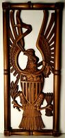 Vintage Liberty Eagle Wall Hanging By Syracuse Ornamental Co Syroco Wood