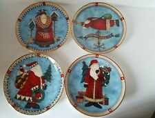 Franklin Mint Heirloom Collection 4 Debbie Mumm Royal Doulton Santa Plates