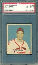 1949 BOWMAN BASEBALL JIM HEARN #190 PSA 4