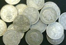 More details for bulk lot of 20 circulated pre 1947 silver florins / two shillings george v + vi