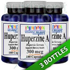 Huperzine A 300mcg 3X180 Capsules by Vitamins Because (Huperzia Serrrata)