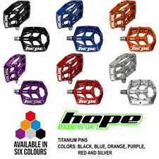 Hope F20 Flat Platform Pedal Titanium Pins - All Colors and Options - Brand New
