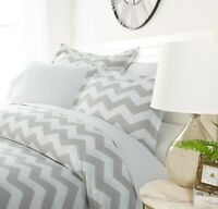 Luxury Ultra Soft Classic Chevron Duvet Cover Set By Sharon Osbourne Home