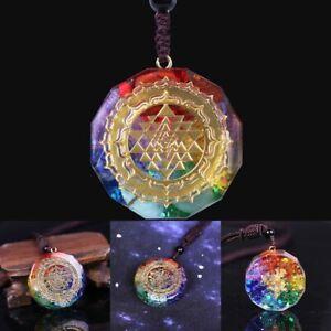 Energy Necklace Orgonite Pendant Sri Yantra Necklace Sacred Geometry Chakra UK