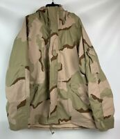 US Military ECWS Desert Camouflage GoreTex Cold Weather Parka X-Large Long