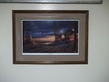 """Terry Redlin """"Country Neighbors"""" Signed and Numbered with COA!480/4800 32 X 23"""