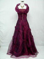 Cherlone Übergröße Lila Ballkleid Brautkleid Abendkleid Brautjungfer Kleid 48
