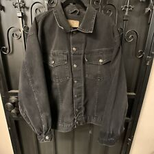 Vintage Looking Todays News Denim Jacket Black, Size 2XL Used Condition